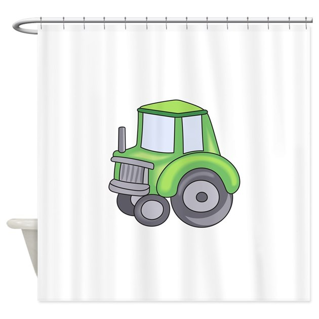 Tractor Shower Curtain : Farming tractor shower curtain by greatnotions