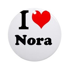 I Love Nora Ornament (Round)