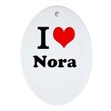 I Love Nora Ornament (Oval)