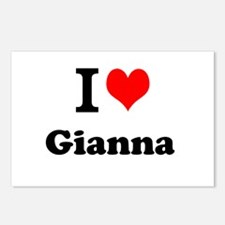 I Love Gianna Postcards (Package of 8)