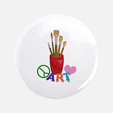 "PEACE LOVE ART 3.5"" Button"