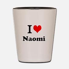 I Love Naomi Shot Glass