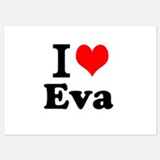 I Love Eva Invitations