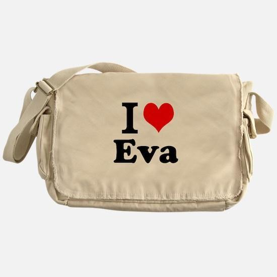 I Love Eva Messenger Bag