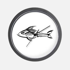 Tribal Fish Wall Clock