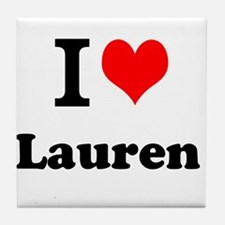 I Love Lauren Tile Coaster