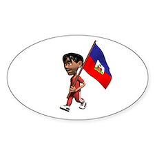 Haiti Boy Oval Decal