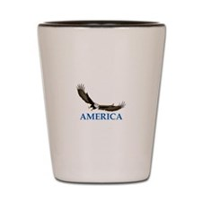 AMERICA LETTERS AND EAGLE Shot Glass