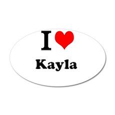 I Love Kayla Wall Decal
