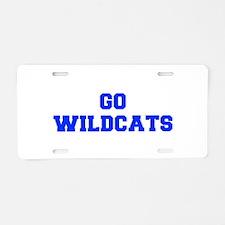 Wildcats-Fre blue Aluminum License Plate
