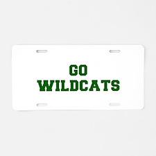 Wildcats-Fre dgreen Aluminum License Plate