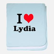 I Love Lydia baby blanket