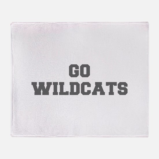 WILDCATS-Fre gray Throw Blanket