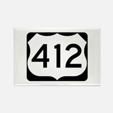 US Route 412 Rectangle Magnet