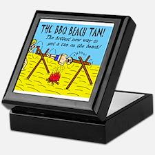 BBQ BEACH TAN HOTTEST NEW WAY Keepsake Box