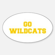 Wildcats-Fre yellow gold Decal