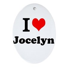 I Love Jocelyn Ornament (Oval)