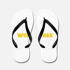 Wolverines-Fre yellow gold Flip Flops