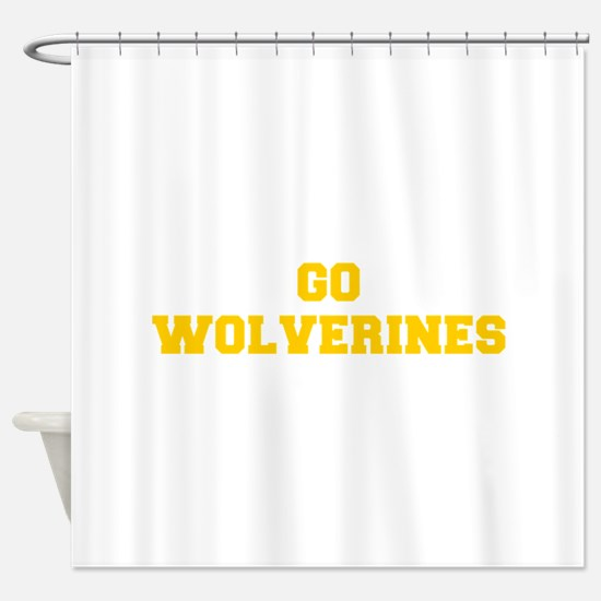 Wolverines-Fre yellow gold Shower Curtain