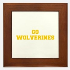 Wolverines-Fre yellow gold Framed Tile