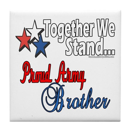 Army Brother Tile Coaster