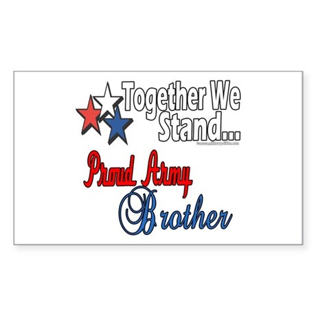 Army Brother Rectangle Sticker