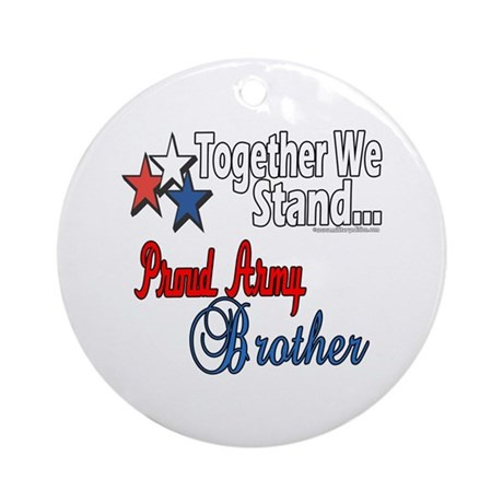 Army Brother Ornament (Round)