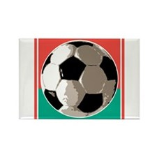 Italian Soccer Ball Design Rectangle Magnet