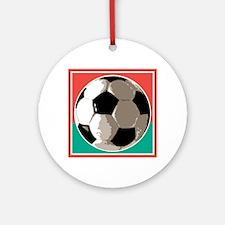 Italian Soccer Ball Design Ornament (Round)