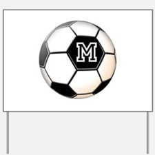 Soccer Ball Monogram Yard Sign