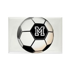 Soccer Ball Monogram Magnets