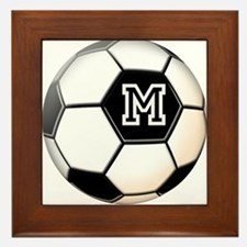 Soccer Ball Monogram Framed Tile