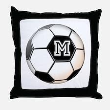 Soccer Ball Monogram Throw Pillow