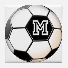 Soccer Ball Monogram Tile Coaster