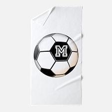 Soccer Ball Monogram Beach Towel