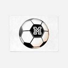 Soccer Ball Monogram 5'x7'Area Rug