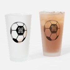 Soccer Ball Monogram Drinking Glass