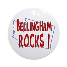 Bellingham Rocks ! Ornament (Round)