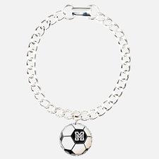 Soccer Ball Monogram Bracelet