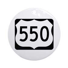 US Route 550 Ornament (Round)