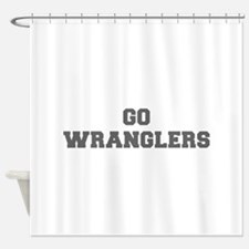 WRANGLERS-Fre gray Shower Curtain