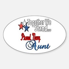 Proud Navy Aunt Oval Decal