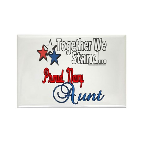 Proud Navy Aunt Rectangle Magnet (10 pack)