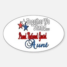 National Guard Aunt Oval Decal