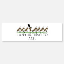Happy Birthday Axel (ants) Bumper Bumper Bumper Sticker