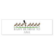 Happy Birthday Axel (ants) Bumper Bumper Sticker