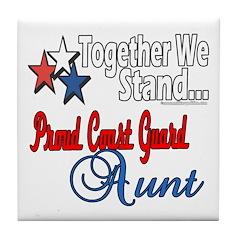 Coast Guard Aunt Tile Coaster