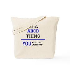 Cute Abcd Tote Bag