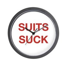 Suits Suck Wall Clock