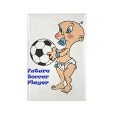 Future Soccer Player Rectangle Magnet